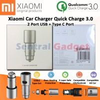 XIAOMI CAR CHARGER METAL QUICK CHARGE 3.0 FAST CHARGING DUAL PORT 36W