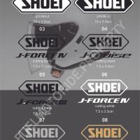 Sticker Logo Helm Shoei Halface J Force J Cruise KYT Kyoto INK AGV