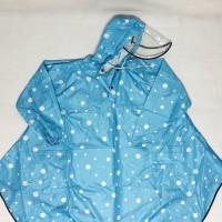 Jas hujan wanita / jas hujan poncho / GRC / polkadot - 8033