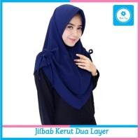 Jilbab Instan Kerut Dua Layer Kerudung Hijab by Albab Shop