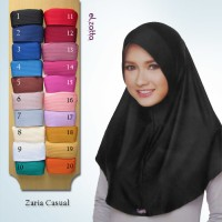 ELZATTA Hijab Kerudung Jilbab Instan Bergo Zaria Casual Asli Terbaru