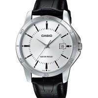 Jam tangan Casio MTP V004 L / MTP-V004 kulit pria