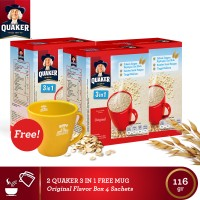 harga [free Mug] Quaker 3 In 1 Original Box 4s-3pcs(as4-1mug-8997020180299) Tokopedia.com