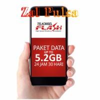 TELKOMSEL FLASH PAKET DATA INTERNET 5,2GB AS / SIMPATI / LOOP