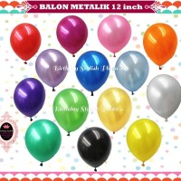 Balon Latex Metalik / Balon Ulang Tahun 12 Inch