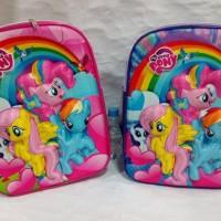 Tas backpack MY LITTLE PONY ransel gendong 3D gambar timbul u/ TK SD