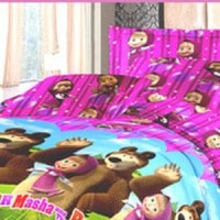 sprei masha and the bear single bed T3010