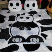 kasur karpet karakter panda
