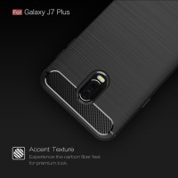 FIBER LINE Samsung Galaxy J7 Plus 2017 soft cover case casing carbon