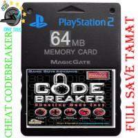 Memory card PS2 64MB CHEAT GAME SHARK CODEBREAKER+FULL save tamat