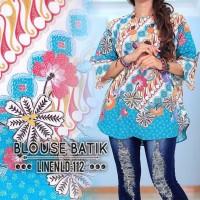 2112 blouse batik linen/dress/pesta/kerja/jumbo/bigsize/muslim/cantik