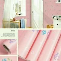 Grosir Murah Wallpaper Dinding Motif ikan pink 10m x 45cm