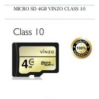 MEMORI CARD / MEMORI HP / MMC / SD CARD / MICRO SD MERK VINZO 4GB CLAS