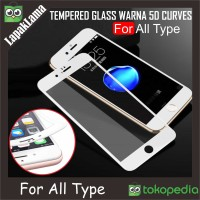 Tempered Glass Warna 5D FULL ALL Type Xiaomi iPhone Samsung Oppo Vivo