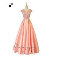 gaun pesta bahan brokat long dress cantik baju pesta baru
