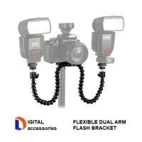 Flexible Dual-arm Flash Bracket for Macro Shooting
