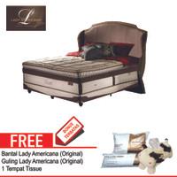 Jadetabek! Lady Americana Set Kasur Spring Bed Azzure 200 x 200