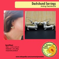 Anting Bentuk Anjing Dachshund / Tekel ( Dachshund Dog Earrings )