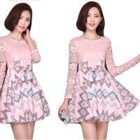 Dress Wanita Import Baju Pesta Import Brokat Kombinasi Katun 770