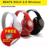 BEATS SOLO HD 2.0 Wireless Black Gold Red Blue OEM A++ BASS PERSIS ORI