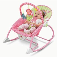 Fisher Price Infant to Toddler Rocker Chair / Bouncer PINK Colour