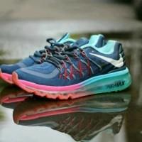 Free Bonus !!! Sepatu Nike Airmax Running 2015 Women - Navy Tosca