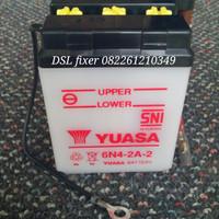 YUASA 6N4-2A-2 (6v / 4ah), untuk Yamaha V-75,DX-100,RX-S, LS-3,YT-115)
