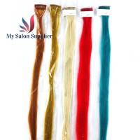 Hair Rambut Sambung Klip Sintetis 1 Klip 1 Warna