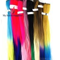 Hair Rambut Sambung Klip Sintetis 5 Klip 2 Warna