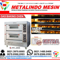mesin oven roti 2 deck RFL-24SS getra & gas oven 4 tray harga murah