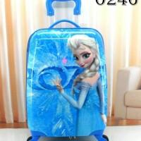 Tas Koper Troli Trolley Travel Sekolah Anak SD Fiber frozen 16 inch
