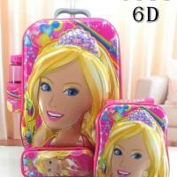tas troli ransel anak barbie 6D 6 dimensi 4 in 1 justice hero
