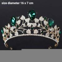 mahkota pernikahan aksesoris rambut pengantin wedding crown qs08