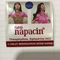 Neo Napacin 1 Strip 4 Tablet Kaplet / Grosir Murah / Obat Sesak Napas