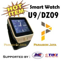 SMART WATCH U9 / SMARTWATCH DZ09 Gold Emas SIMCARD MICRO MEMOR