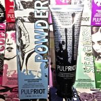 pulpriot powder cat rambut biru pastel blue mirip pravana manic panic