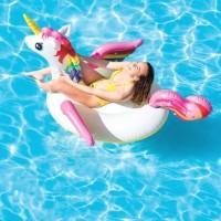 Pelampung Mega Unicorn Island Ride On Pool or Beach - INTEX  57281