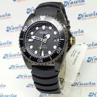 Seiko Kinetic SKA427P2 Full Black Divers 200M - Jam Tangan Pria SKA427