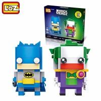 Jual EXCLUSIVE LOZ Mini Brick Headz 2 in 1  Batman & Joker | Lego Mini Murah