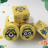 missha original korea oil clear blotting powder 15 gram minion yellow