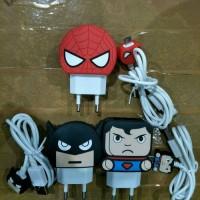Charger USB Karakter Superhero 2,4A TERMURAH & TERLENGKAP