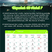 Kalender Meja 2018 Masehi/ 1439 Hijriyyah Fitnah Akhir Zaman