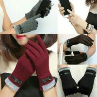 sarung tangan winter touchscreen pita bulu import