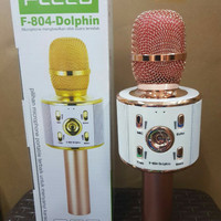 SPEAKER BLUETOOTH MICROPHONE MIC FLECO F804 DOLPHIN FOR SMULE WIRELESS