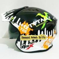 Helm JPX MX 726 motif Monster Energy Super Black Mirip Airoh Trr S