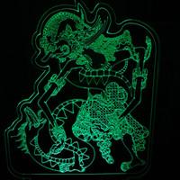 Lampu akrilik / acrylic grafir / engrave bima dan naga