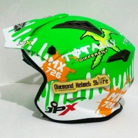Helm JPX MX 726 motif Monster Energy Green Fluo Mirip Airoh Trr S