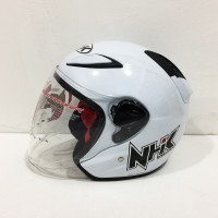 Helm NHK R6 Solid White Putih