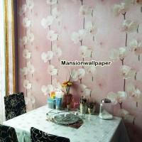 Wallpaper Dinding Motif Bunga Korea Style Elegan