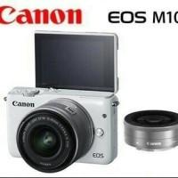 kamera canon EOS M10 DOBBLE LENS KIT 15-45MM STM + 22MM STM (RESMI)